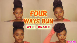 put your hair in a bun with braids 4 ways hair bun styles with senegalese rope twists braids