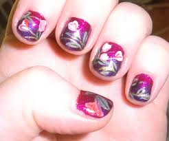 love4nailart cute floral valentine u0027s day nail art for short nails