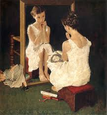 norman rockwell in mirror collotype print collotype prints