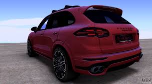 Porsche Cayenne Red - porsche cayenne turbo s gts 2015 for gta san andreas