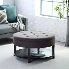 gray leather ottoman coffee table sophisticated round grey ottoman small grey ottoman s small round