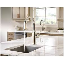nickel faucets kitchen polished nickel briarsfield 1 handle pull bar and prep faucet
