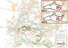 Gold Line Map Amstel Gold Clips Cauberg Finish From 2017 Route Velonews Com