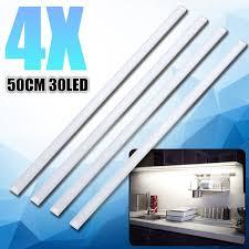 led kitchen cupboard cabinet lights 4x 50cm led light dc12v 10w for kitchen cupboard cabinet lighting l light color warm white white wish