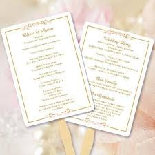 make your own wedding fan programs 55 best wedding program fans diy printable templates images on