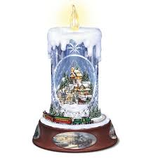 the thomas kinkade crystal candle hammacher schlemmer