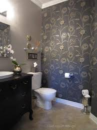 bathroom with wallpaper ideas bathroom powder room transformation ideas ceiling border wallpaper