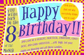 Birthday Day Cards Numerology Reading Free Birthday Card 8 Worldnumerology Com