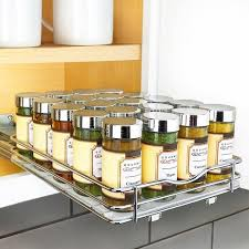 kitchen sink cabinet caddy lynk professional 8 wide slide out spice rack cabinet organizer
