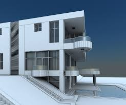 modern villa 3d model modern villa with balcony cgtrader