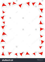 bright red santa hat page border stock illustration 327615188
