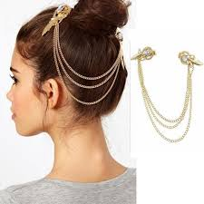 gold headbands aliexpress buy hair clip pins women gold color tassel