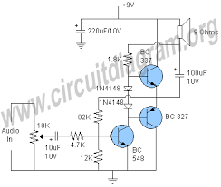 simple transistor audio lifier circuit diagram