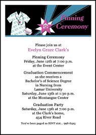 nursing graduation announcements pinning ceremony invitations with hat and nursing graduation