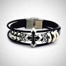 leather bracelet wristband images Braided leather bracelet wristband urban stylish jpg