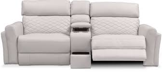 ivory leather reclining sofa catalina 3 piece power reclining sofa with console ivory