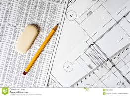 Drawing House Plans Free Drawing House Plan Ruler And Pencil On The Table Stock Photo