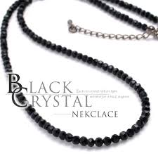 black swarovski crystals necklace images Cameron rakuten global market necklace men gap dis black jpg
