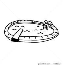 hand drawn sketch of swimming pool stock illustration 28131021
