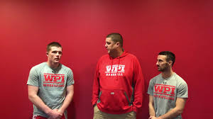 wpi wrestling post match interview michael curtis and ben zogby