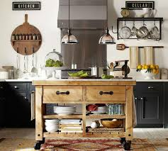terrific pottery barn hamilton kitchen island of black gloss