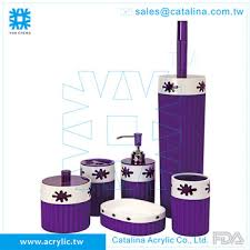 purple bathroom sets purple bathroom set tumbler lotion dispenser cotton jar soap dish