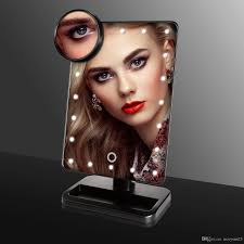 led makeup mirror led make up mirror stand up for desk with 10x