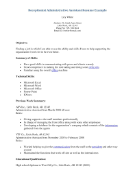 Front Desk Receptionist Resume Sample by Receptionist Resume Objective Free Resume Example And Writing
