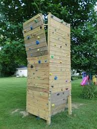 diy backyard climbing wall bring fun and healthy with backyard