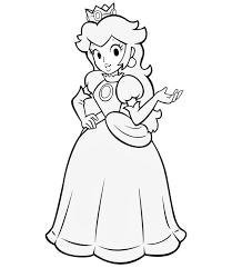 princess peach coloring pages 50 drawings