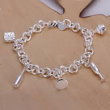 sterling silver charm bracelet charm images Fashion copper five goblet charm bracelet with 925 sterling silver jpg