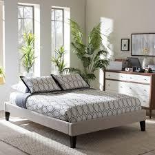 Baxton Studio Platform Bed Baxton Studio Lancashire King Fabric Upholstered Bed 28862 7000 Hd