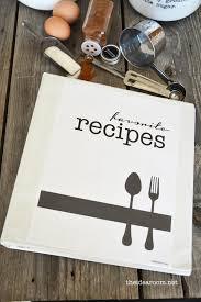 recipe book printables the idea room