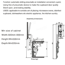 Kitchen Cabinet Lift Arm Mechanism Hinges Vertical Swing Lift Up Stay Pneumatic For