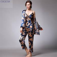 silk home 2017 cockcon new women luxury pajama sets 2017 brand fashion
