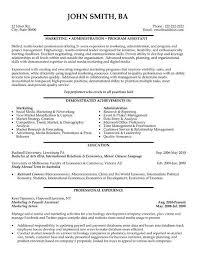 Best Marketing Resume by Marketing Assistant Resume Berathen Com