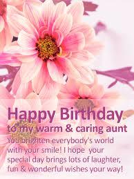 to my warm caring happy birthday wishes card birthday