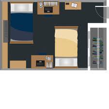 dorm room floor plans bennett tower housing west virginia university