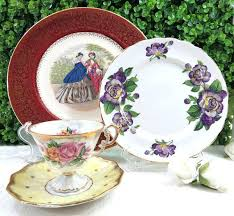 mismatched plates wedding mismatched dinnerware set i the idea of a sweet summer