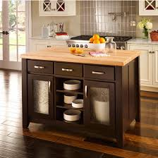 jeffrey alexander contemporary kitchen island with hard maple edge