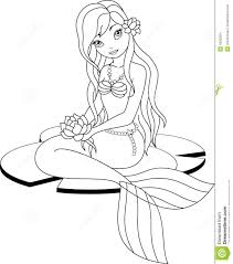mermaid coloring pages beautiful girlcoloring free download