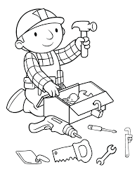 Community Helpers Coloring Pages Search 40 Exciting Construction Tools Coloring Page