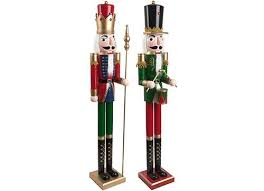 painted wooden nutcracker soldier ornament traditional
