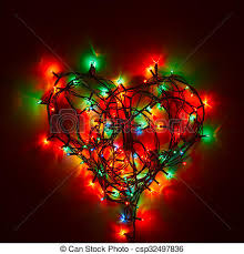heart shaped christmas lights heart shaped fairy lights holiday background christmas stock