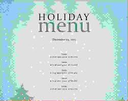 sample party menu template
