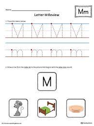 letter m review worksheet color myteachingstation com