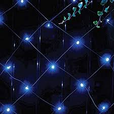 Outdoor Net Lights New 105 Blue Led Solar Powered Net Lights Outdoor Garden String