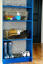 ikea hack mudroom ikea hack bookcase makeover with wallpaper u0026 paint this is our