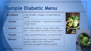 diabetic breakfast menus study 15 type 1 diabetes mellitus ppt online
