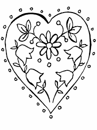 coloring pages of heart flower and hearts coloring pages coloring home